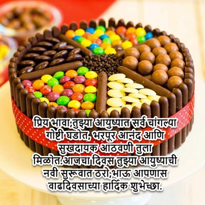 Happy Birthday Images For Brother in Marathi