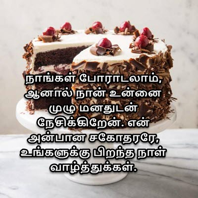 Happy Birthday Status For Brother In Tamil